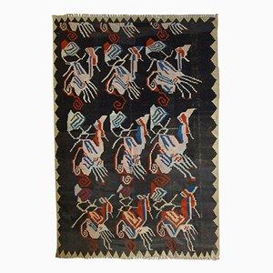 Antiker Handgemachter Kaukasischer Karabagh Killim Teppich, 1920er
