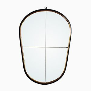 Vintage Free-Form Metal Mirror