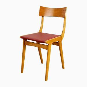 Skandinavischer Vintage Stuhl aus Buche und Vinyl