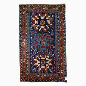 Antique Handmade Caucasian Lezgi Rug, 1880s