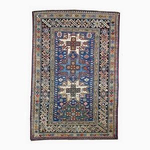 Antiker Handgefertigter Kaukasischer Chichi Teppich, 1880er