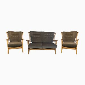 Beech & Elm Three Piece Suite from Priory Furniture, 1960s