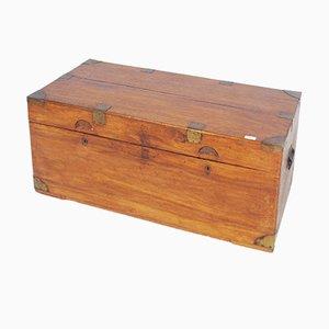Antike Camphor Holztruhe