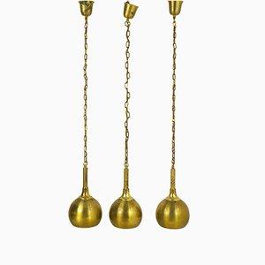 Brass Pendants, 1940s, Set of 3