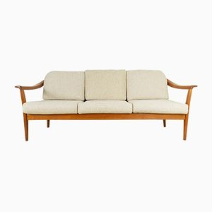 Vintage Cherry 3-Seater Sofa from Wilhelm Knoll, 1960s
