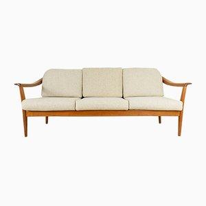 Vintage Kirschholz 3-Sitzer Sofa von Wilhelm Knoll, 1960er