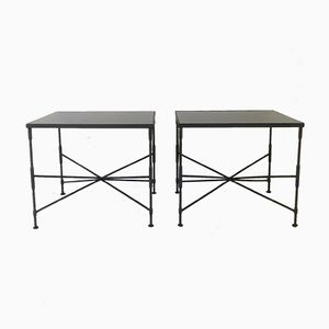 Black Metal Coffee Tables, 1970s, Set of 2
