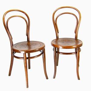 Wiener Nr 14 Stühle von Thonet, 1900er, 2er Set