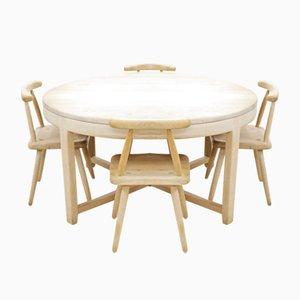 Mid-Century Eiche Esstisch und 4 Stühle