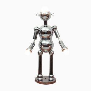 Italian Chrome Robot Floor & Table Lamp from Torino Lamps Co., 1970s