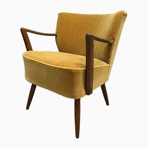 Vintage Sessel aus Goldfarbenem Samt Velours von Artifort