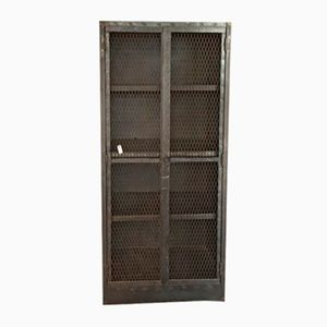 Antique Mesh Cabinet