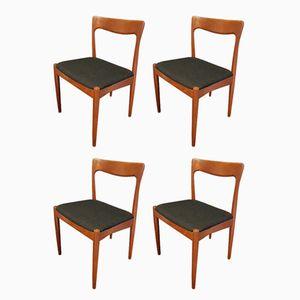 Chaises en Teck par Arne Voddler pour Vamo Sonderborg, 1960s, Set de 4