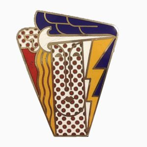 Vintage Pop Art Woman Brooch by Roy Lichtenstein for Multiples Inc, 1960s
