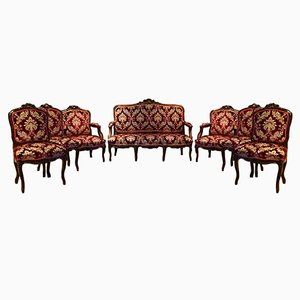 Antike Salon Sitzgruppe, 19th Jh.