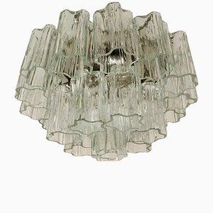 Lampada da soffitto a 3 strati in vetro di Murano di Venini, anni '60