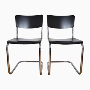 S43 Cantilever Chairs by Mart Stam for Thonet, 1988, Set of 2