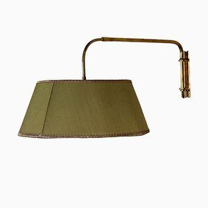 Lampada da parete in ottone regilabile, anni '50