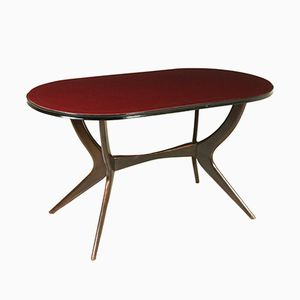 Gebeizter Mid-Century Ebenholz Tisch