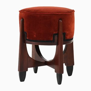 Dutch Mahogany Art Deco Stool, 1920s