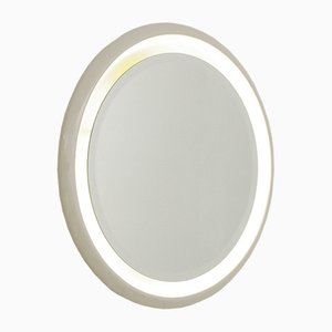 Italian Backlight Round Mirror, 1970s