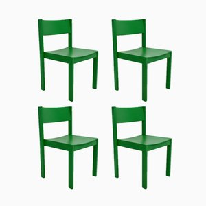 Mid-Century Green Dining Chairs by Carl Auböck for E. & A. Pollak, Set of 4