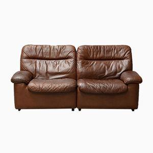 Vintage 2-Sitzer Ledersofa von de Sede