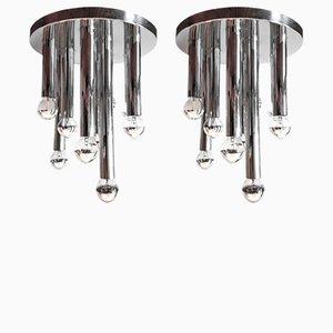Vintage Deckenlampen von Gaetano Sciolari für Boulanger, 2er Set