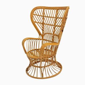 Italian Wicker Chair by Lio Carminati, 1940s