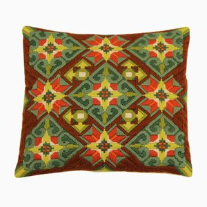 Vintage Hand-Embroidered Sofa Cushion