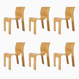 Dutch Chairs by Gijs Bakker for Castelijn, 1974, Set of 6