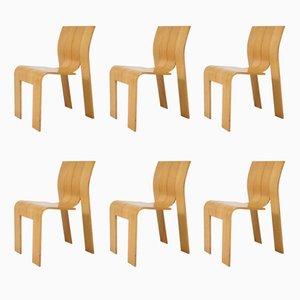 Niederländische Stühle von Gijs Bakker für Castelijn, 1974, 6er Set