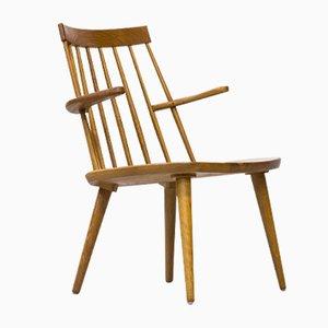 Sibbo Armlehnstuhl aus Massiver Eiche von Yngve Ekström für Stolab, 1960er