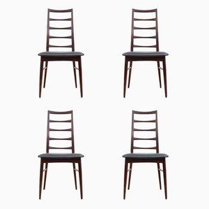 Skandinavische Palisander Lis Stühle von Niels Koefoed, 1960er, 4er Set
