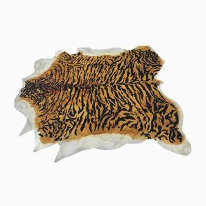 Tappeto in pelle di mucca con motivo tigrato, anni '70
