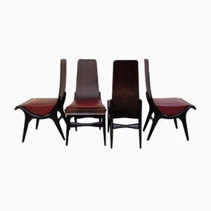 Italian Chairs from Pozzi & Verga, 1960s, Set of 4
