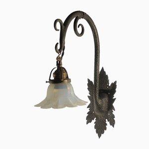 Lampada da parete antica floreale