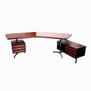T96 Schreibtisch von Osvaldo Borsani für Tecno, 1950er