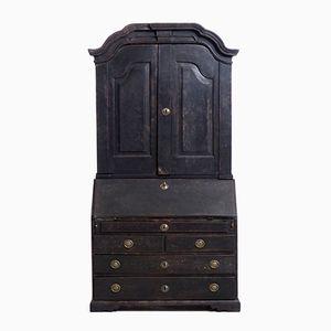 Antique Swedish Black Wooden Bureau
