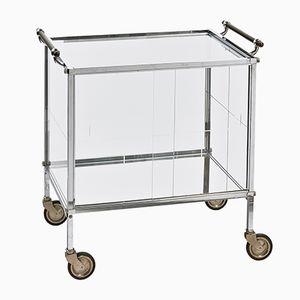 Vintage Chrome Bar Cart