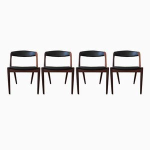 Mid-Century Teak Dining Chairs by Kai Kristiansen for Schou Andersen, 1960s, Set of 4