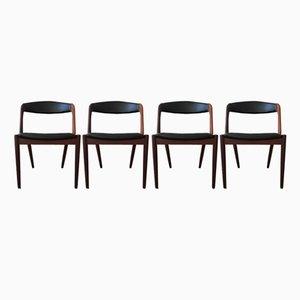 Mid-Century Teak Esszimmerstühle von Kai Kristiansen für Schou Andersen, 1960er, 4er Set