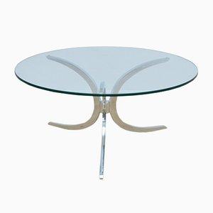 Tisch mit Glasplatte, 1970er