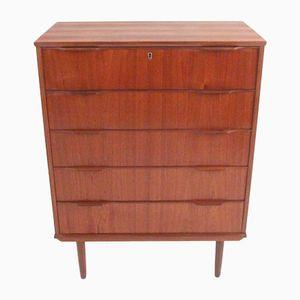 Vintage Rosewood and Teak Veneered Chest of Drawers