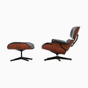 Vintage Rosewood Lounge Chair & Ottoman by Charles & Ray Eames for Herman Miller, 1960s