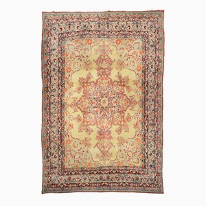 Antiker Kirman Teppich aus Wolle, 19. Jh.