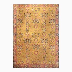 Antiker Indischer Jugendstil Lahore Teppich