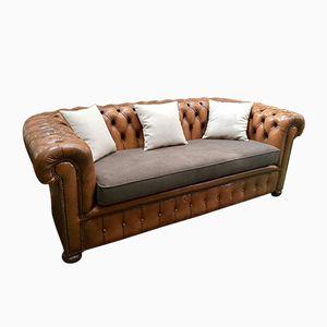Vintage Chesterfield Leder-Sofa, 1970er