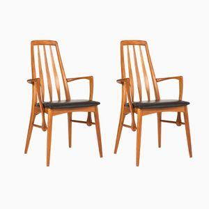 Vintage Eva Armlehnstühle von Niels Kofoed, 1960er, 2er Set