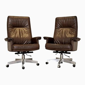Vintage DS 35 Executive Swivel Armchairs by de Sede, 1960s, Set of 2